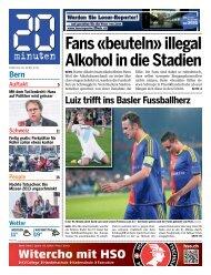 Fans «beuteln» illegal Alkohol in die Stadien - 20 Minuten