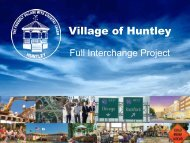 Link to aerials and drawings of full interchange - Village of Huntley