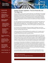 Hunton & Williams Renewable Energy Quarterly, September 2009