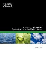 Carbon Capture and Sequestration in the United States, Hunton ...