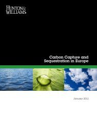 Carbon Capture and Sequestration in Europe, Hunton