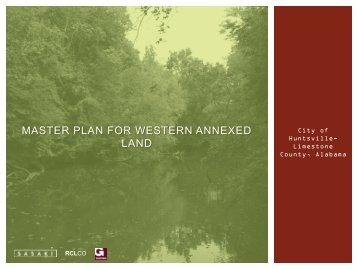 MASTER PLAN FOR WESTERN ANNEXED LAND