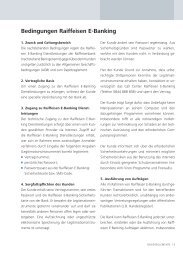 Bedingungen Raiffeisen E-Banking