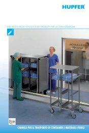 carrelli per il trasporto di container e materiali sterili - HUPFER ...