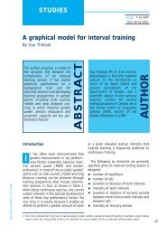 Graphical Model for Interval Training - HurdleCentral.com