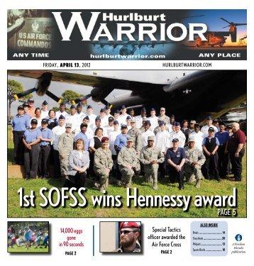1st SoFSS wins hennessy award - Hurlburt Warrior