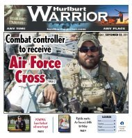 Combat controller to receive - Hurlburt Warrior