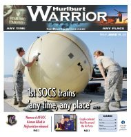 1st SOCS trains 'any time, any place' Page 11 - Hurlburt Warrior