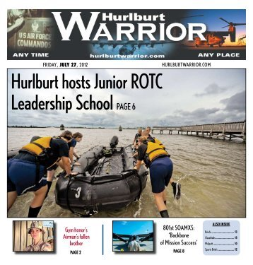 hurlburt hosts Junior rotc leadership School PaGe 6 - Hurlburt Warrior