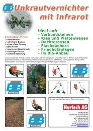Unkrautvernichter mit Infrarot - Hurtech AG