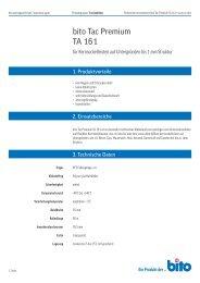 Technisches Datenblatt TA 161 - Bito AG