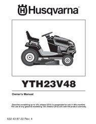 OM, HUSQVARNA, YTH23V48, 96043012500, 2010-01, TRACTOR