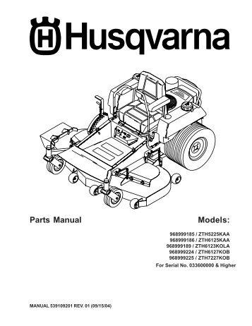 Husqvarna Wiring Diagram - Wiring Diagram Data on