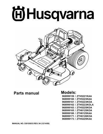 Husqvarna Rz5424 Wiring Diagram on 6 volt tractor wiring diagram