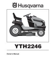 OM, YTH 2246, 96043003700, 2006-11, Ride Mower - Husqvarna