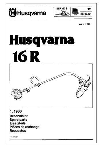 IPL, 16 R, 1986-03, Trimmer - Husqvarna