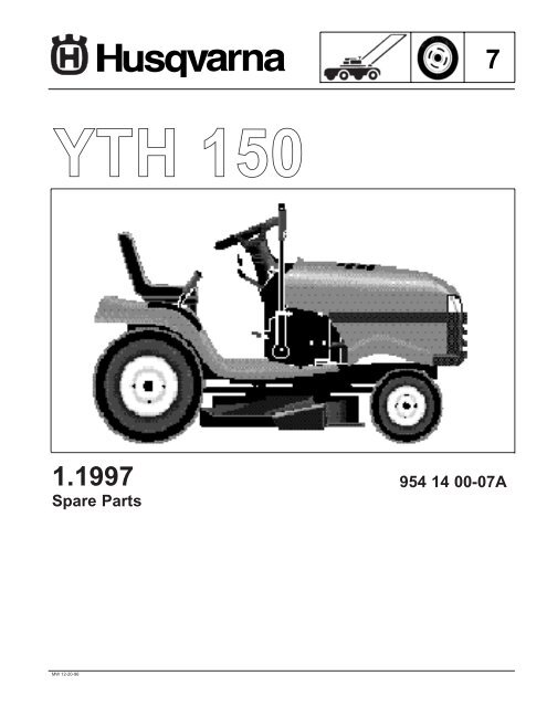 IPL, YTH 150, 954140007A,1996-12, Ride Mower - Husqvarna Yth Husqvarna Wiring Diagram on