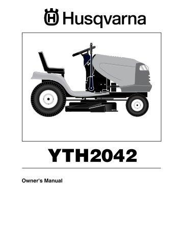operator 39 s manual yth 2042 96043003200 2007 02. Black Bedroom Furniture Sets. Home Design Ideas