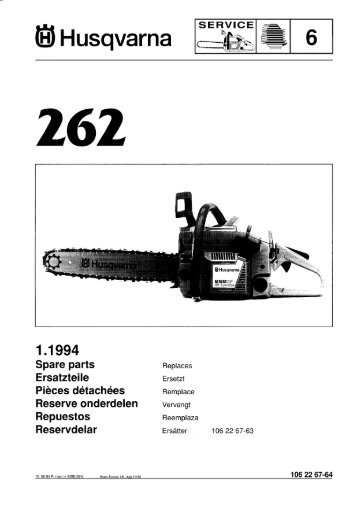 IPL, 262, 1994-06, Chain Saw - Husqvarna