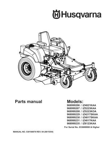 Husqvarna Rz5424 Deck Diagram, Husqvarna, Free Engine