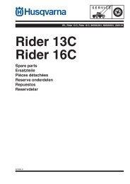 IPL, Rider 13 C, Rider 16 C, 965094301, 966830601 ... - Husqvarna