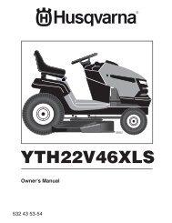 om, yth22v46xls, 2010-02, tractors/ride mowers ... - Husqvarna