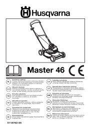 OM, Master 46, 2003, PL, CZ, SK, SI, YU, RU, EE, LV ... - Husqvarna
