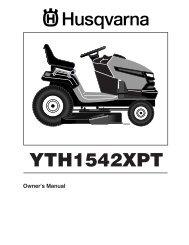 OM, YTH 1542 XPT, 96043000600, 2006-06, Ride Mower - Husqvarna