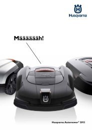 Automower® Broschüre 2013 - Husqvarna