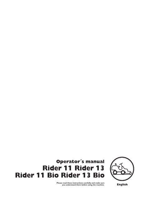OM, Rider 11, Rider 13, Rider 11 Bio, Rider 13 Bio ... - Husqvarna
