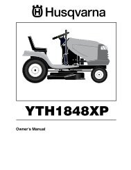 OM, YTH 1848 XP, 96013000300, 2005-10, Ride Mower - Husqvarna