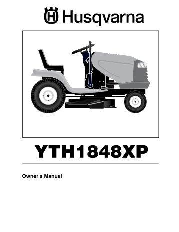 om yth 2448 96015000101 2005 03 ride mower husqvarna rh yumpu com Craftsman 917.276380 Husqvarna 1848 XP