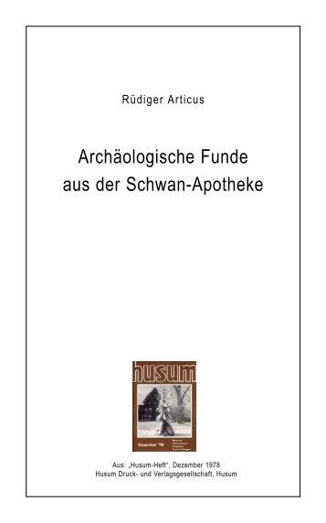 Archäologische Funde aus der Schwan-Apotheke - Husum ...