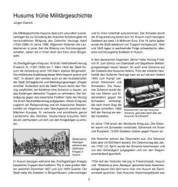 Husums frühe Militärgeschichte - Husum-Stadtgeschichte