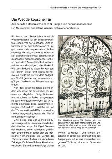 Die Wedderkopsche Tür - Husum-Stadtgeschichte
