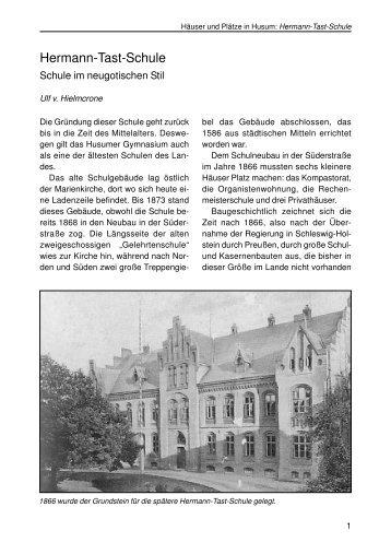 Hermann-Tast-Schule - Husum-Stadtgeschichte