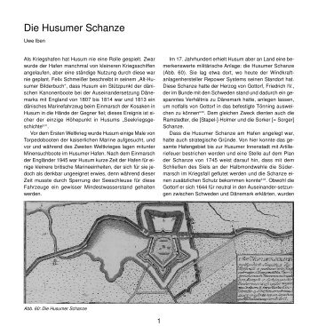 Die Husumer Schanze - Husum-Stadtgeschichte