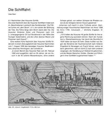 Die Schifffahrt - Husum-Stadtgeschichte