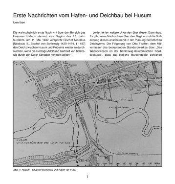 Erste Nachrichten vom Hafen- und Deichbau bei Husum
