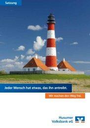 Satzung - Husumer Volksbank eG