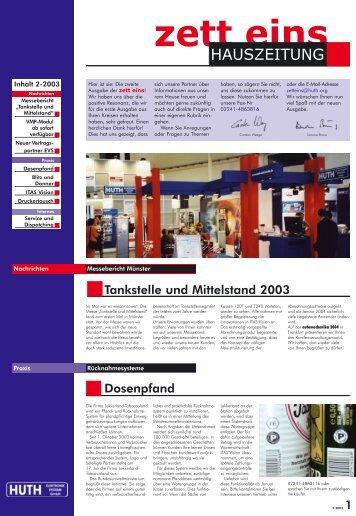 Ausgabe 02/2003 - HUTH ELEKTRONIK SYSTEME GmbH