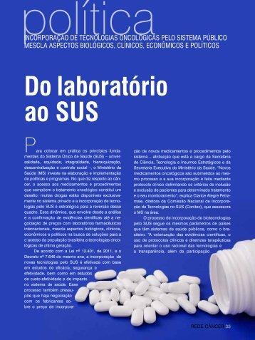 do laboratório ao sUs - Ministério da Saúde