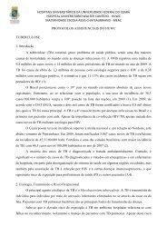 Tuberculose - Hospital Universitário Walter Cantídio - Universidade ...