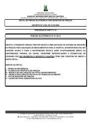 Baixar Edital - Hospital Universitário Walter Cantídio - UFC
