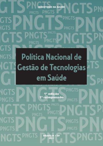 Política Nacional de Gestão de Tecnologias em Saúde