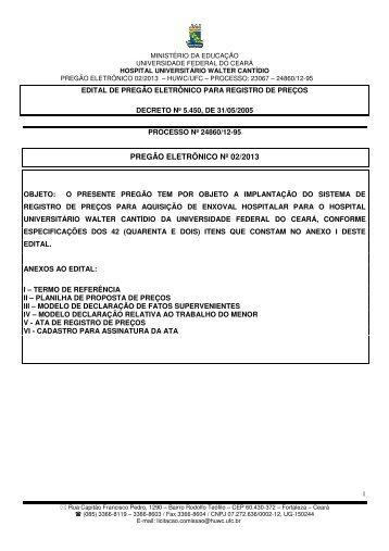 Baixar Edital corrigido no subitem 14.1 - Hospital Universitário ...