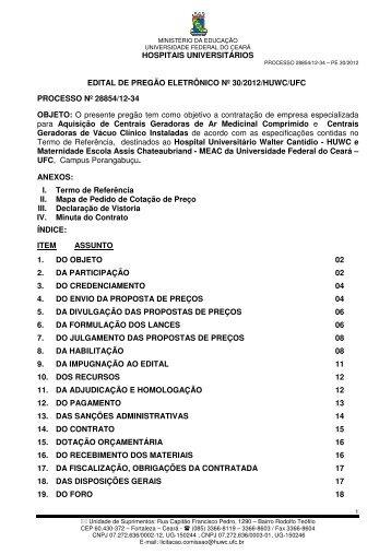 Baixar Edital - Hospital Universitário Walter Cantídio - Universidade ...