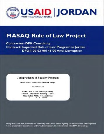 Jurisprudence of Equality Program - PART - USAID