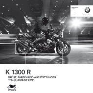 Preisliste K 1300 R - BMW Motorrad Deutschland