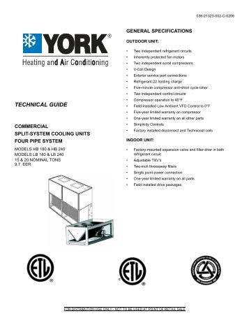 Y-TG-Commercial Split-System Cooling Units Four Pipe ... - Master